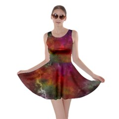 Abstract Picture Pattern Galaxy Skater Dress