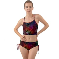 Abstract Picture Pattern Galaxy Mini Tank Bikini Set