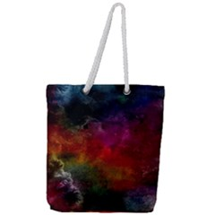 Abstract Picture Pattern Galaxy Full Print Rope Handle Tote (large)