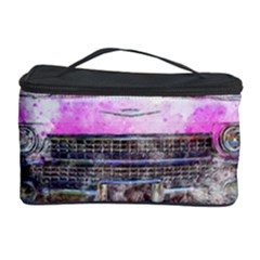 Pink Car Old Art Abstract Cosmetic Storage Case by Celenk