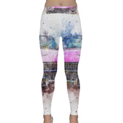 Pink Car Old Art Abstract Classic Yoga Leggings