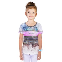 Pink Car Old Art Abstract Kids  One Piece Tee by Celenk