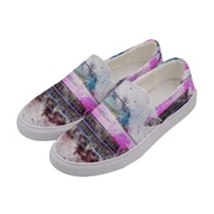Pink Car Old Art Abstract Women s Canvas Slip Ons by Celenk