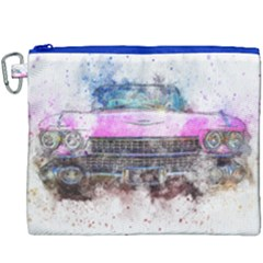 Pink Car Old Art Abstract Canvas Cosmetic Bag (xxxl) by Celenk