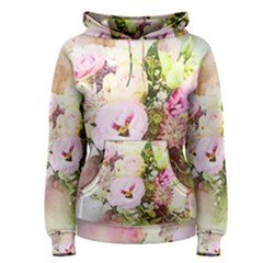 Flowers Bouquet Art Abstract Women s Pullover Hoodie by Celenk