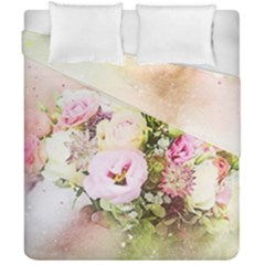 Flowers Bouquet Art Abstract Duvet Cover Double Side (california King Size) by Celenk