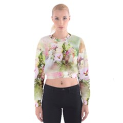 Flowers Bouquet Art Abstract Cropped Sweatshirt