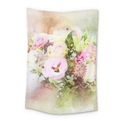Flowers Bouquet Art Abstract Small Tapestry