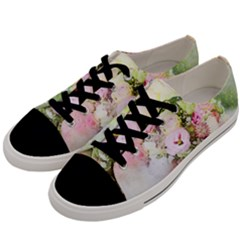 Flowers Bouquet Art Abstract Men s Low Top Canvas Sneakers by Celenk