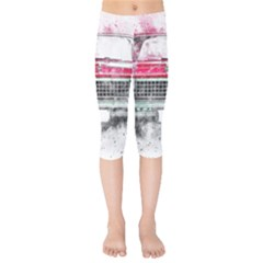 Car Old Car Art Abstract Kids  Capri Leggings  by Celenk