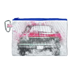 Car Old Car Art Abstract Canvas Cosmetic Bag (large) by Celenk