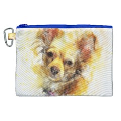 Dog Animal Art Abstract Watercolor Canvas Cosmetic Bag (xl) by Celenk
