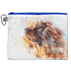Dog Animal Pet Art Abstract Canvas Cosmetic Bag (xxl) by Celenk