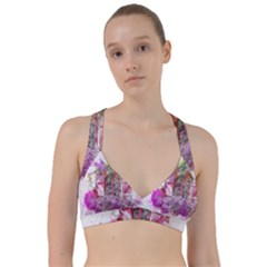 Window Flowers Nature Art Abstract Sweetheart Sports Bra by Celenk