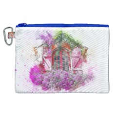 Window Flowers Nature Art Abstract Canvas Cosmetic Bag (xl) by Celenk