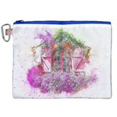 Window Flowers Nature Art Abstract Canvas Cosmetic Bag (xxl) by Celenk