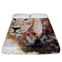 Lion Animal Art Abstract Fitted Sheet (queen Size) by Celenk