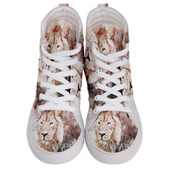 Lion Animal Art Abstract Women s Hi Top Skate Sneakers