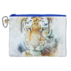 Tiger Animal Art Abstract Canvas Cosmetic Bag (xl)