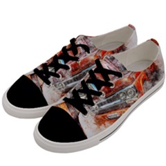 Car Old Car Art Abstract Men s Low Top Canvas Sneakers by Celenk