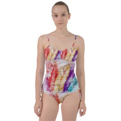 Feathers Bird Animal Art Abstract Sweetheart Tankini Set by Celenk