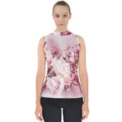 Flowers Bouquet Art Abstract Shell Top