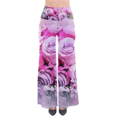 Flowers Roses Bouquet Art Abstract Pants