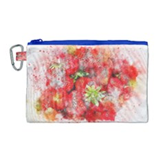 Strawberries Fruit Food Art Canvas Cosmetic Bag (large) by Celenk