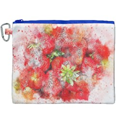 Strawberries Fruit Food Art Canvas Cosmetic Bag (xxxl)