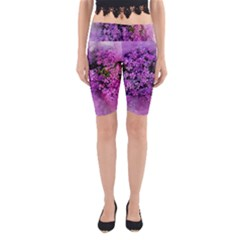 Flowers Spring Art Abstract Nature Yoga Cropped Leggings by Celenk