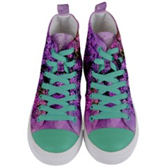 Flowers Spring Art Abstract Nature Women s Mid-top Canvas Sneakers
