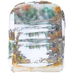 River Water Art Abstract Stones Full Print Backpack