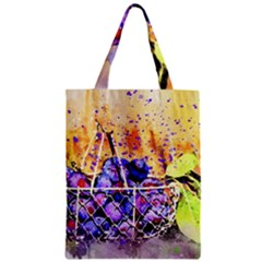 Fruit Plums Art Abstract Nature Zipper Classic Tote Bag by Celenk