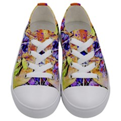 Fruit Plums Art Abstract Nature Kids  Low Top Canvas Sneakers