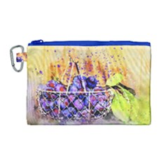 Fruit Plums Art Abstract Nature Canvas Cosmetic Bag (large) by Celenk