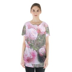 Flowers Roses Art Abstract Nature Skirt Hem Sports Top