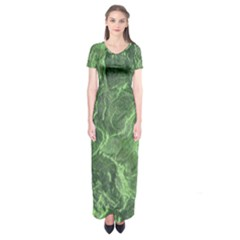 Geological Surface Background Short Sleeve Maxi Dress