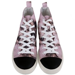 Dog Pet Terrier Art Abstract Men s Mid Top Canvas Sneakers