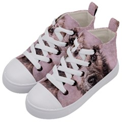 Dog Pet Terrier Art Abstract Kid s Mid Top Canvas Sneakers by Celenk