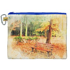 Tree Park Bench Art Abstract Canvas Cosmetic Bag (xxl)