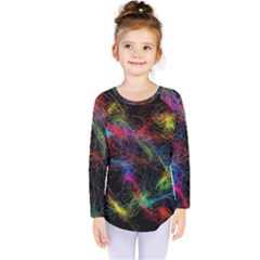 Background Light Glow Abstract Art Kids  Long Sleeve Tee