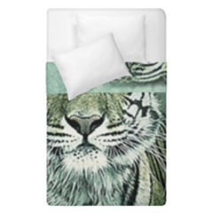 Tiger Cat Art Abstract Vintage Duvet Cover Double Side (single Size) by Celenk