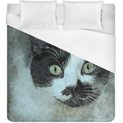 Cat Pet Art Abstract Vintage Duvet Cover (king Size)