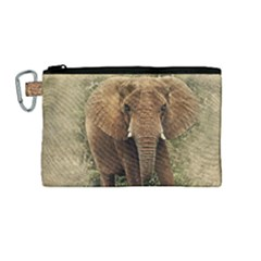 Elephant Animal Art Abstract Canvas Cosmetic Bag (medium)