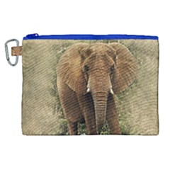 Elephant Animal Art Abstract Canvas Cosmetic Bag (xl) by Celenk
