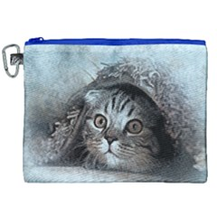Cat Pet Art Abstract Vintage Canvas Cosmetic Bag (xxl)