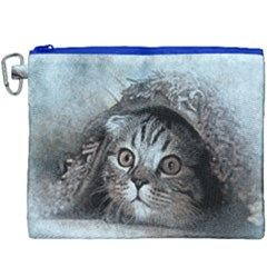 Cat Pet Art Abstract Vintage Canvas Cosmetic Bag (xxxl) by Celenk