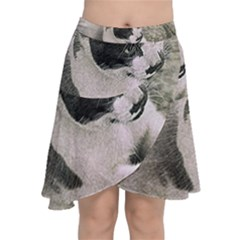 Cat Pet Art Abstract Vintage Chiffon Wrap