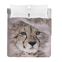 Leopard Art Abstract Vintage Baby Duvet Cover Double Side (full/ Double Size)
