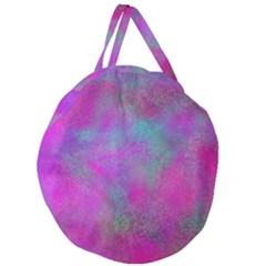 Background Texture Structure Giant Round Zipper Tote